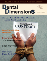 Dental Dimensions Winter 2020 cover